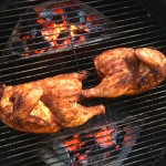 Grilled Half Chickens
