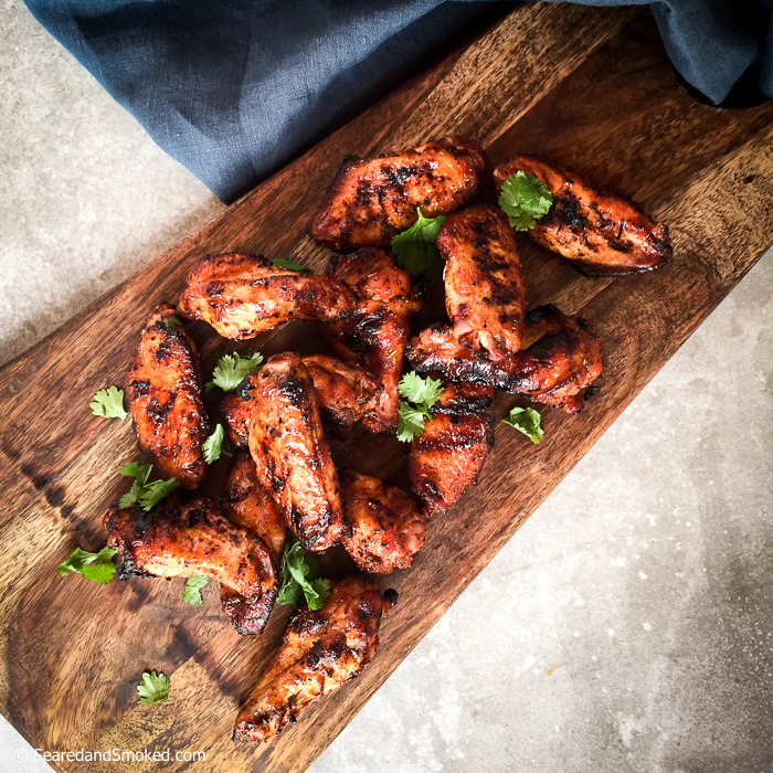 crispy grilled chicken wings