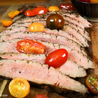 garlic herb marinated flank steak