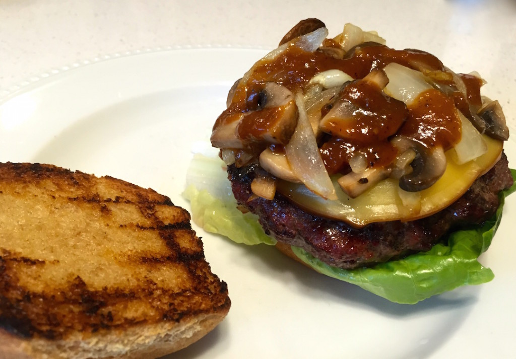 grilled steak house cheese burgers