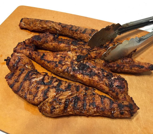 seared and grilled pork tenderloin for easy tacos al pastor