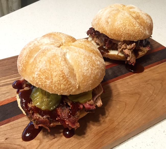 pulled pork sandwich with home made BBQ sauce
