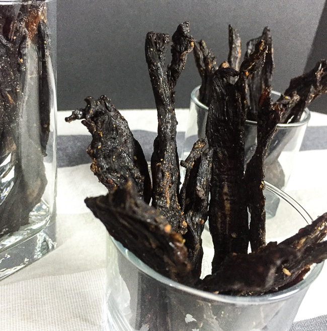 home made Sriracha beef jerky