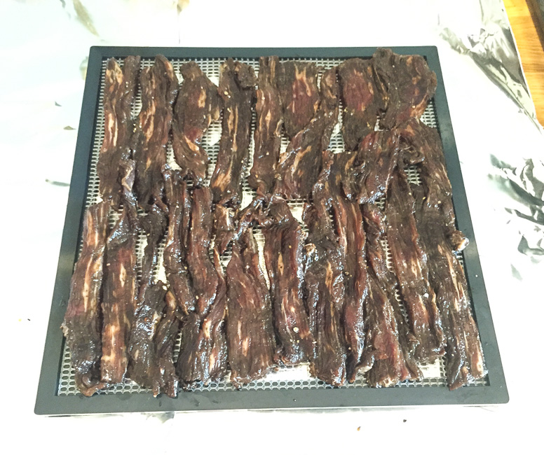 home made flank steak Sriracha beef jerky