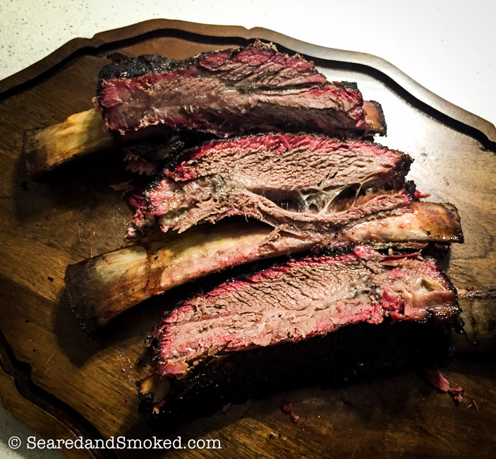 Smoked Beef Ribs On The Big Green Egg Seared And Smoked