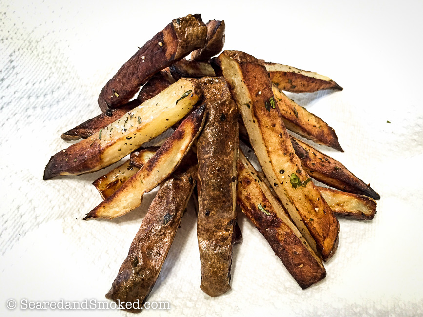 Crispy Oven Fries | Seared and Smoked