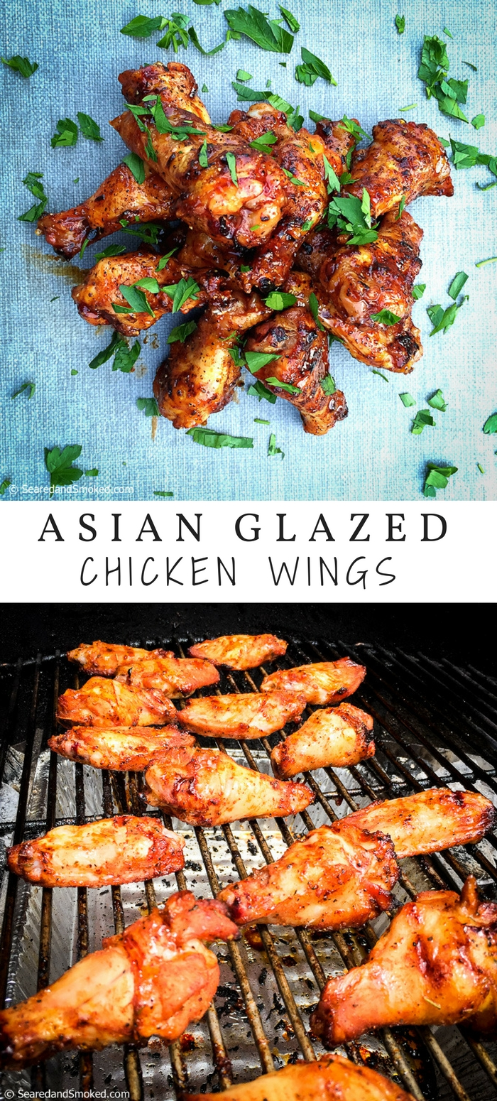 Awesome asian glazed chicken wings on the grill