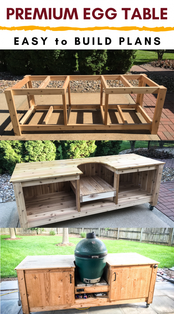 green egg table building process