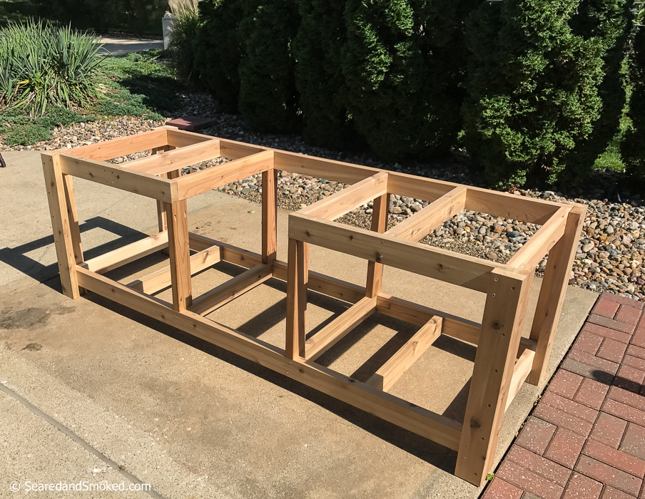 diy big green egg table