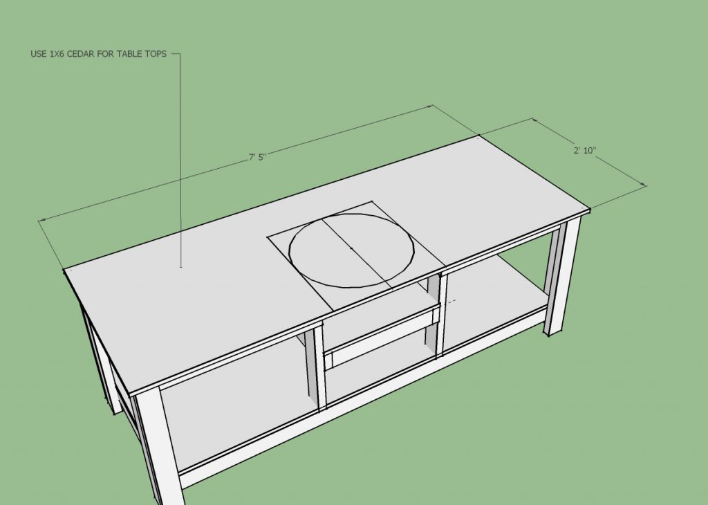 Awesome Big Green Egg Table Plans