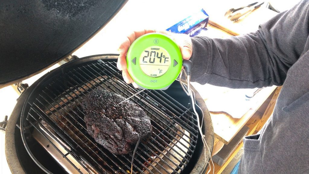 chuck roast smoked to 200