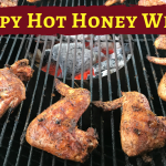 crispy hot honey wings on the grill