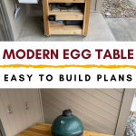 complete build of a modern green egg table cart