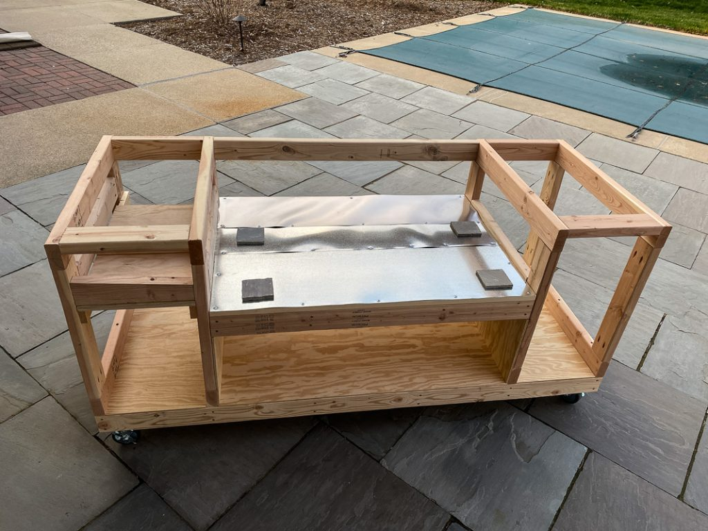 basic framing for the rec tec 700 grill cart