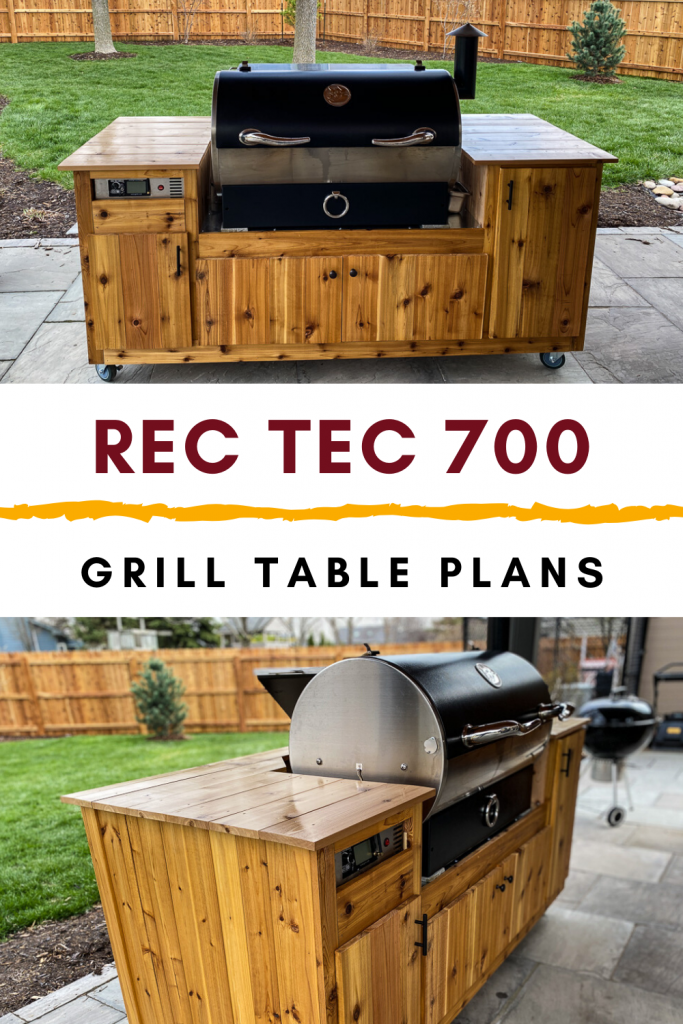 how to build a grill cart table for the rec tec 700